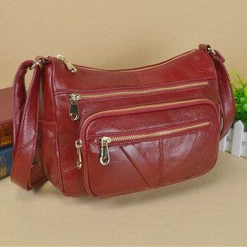 Soft Cow Leather Handbags Women Messenger Shoulder Bags High Quality Phone Bag Women 100% Genuine Leather Bag