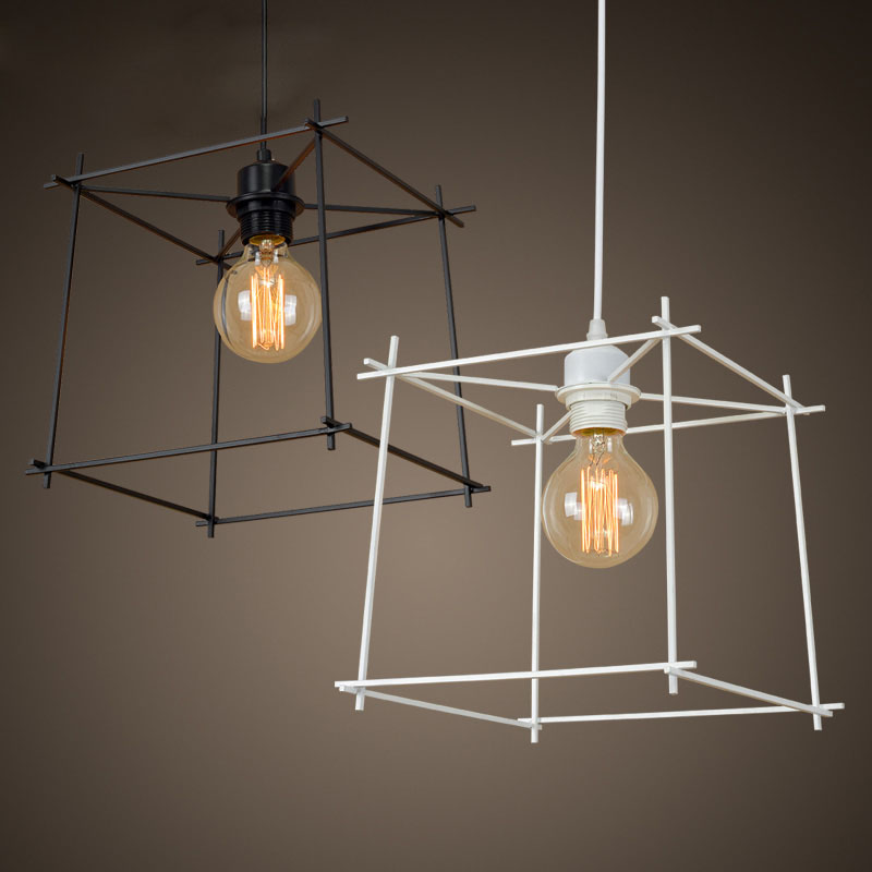 ФОТО Retro Nostalgic Vintage American Country Wrought Iron Edison Pendant Light Warehouse Dinning Room Home Decor Lighting Fixture