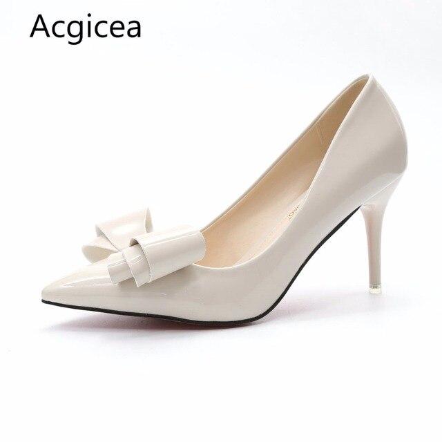 32b3893c0 2017 جديد أزياء الخريف النساء بووتي مضخات عالية الكعب جنسي أحذية امرأة  الربيع سيدة أزياء الزفاف
