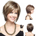 Fashion Sexy Hair Wig Brazilian Stylish Synthetic Hair Straight Short Hair Wigs For Women HB88