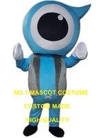 Azul globo ocular costume traje da mascote dos desenhos animados caráter cosplay adulto tamanho traje do carnaval 3290