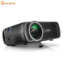 Gigxon-G80 Mini LCD 800×480 1000 Lúmenes ANSI Proyector LED HDMI USB VGA AV Para Cine En Casa