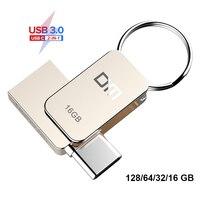 DM PD059 USB флеш-накопитель 3,0 USB C OTG флеш-накопитель 128 64 32 ГБ для Samsung S9 Plus Note 9 для Xiaomi Redmi5 карта памяти флешка