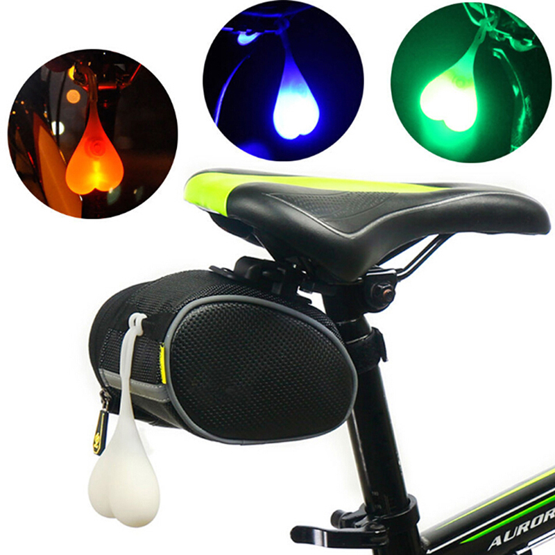 Cycling Tail Silicone Light Bike Red Warning Lights Bicycle Seat Back Egg LampME