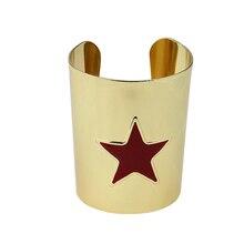 High Quality Wonder Woman Bangle Bracelets Movie Jewelry 6.1CM Width Wristband Bangles