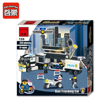 ENLIGHTEN 325Pcs Police Truck Building Blocks Set Educational DIY Bricks Kids Toys For Children Gift Compatible With Brand Block