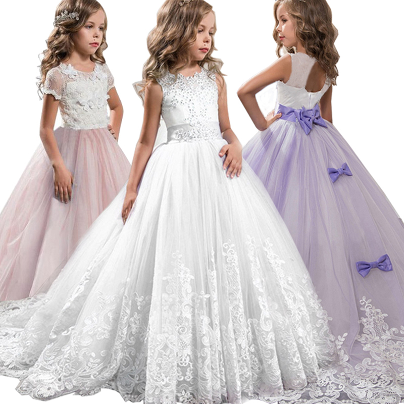 128142a21 2019 verano adolescentes dama de honor niñas vestido niños vestidos para  Niñas Ropa princesa vestido de fiesta vestido de boda 6 14 10 12 años