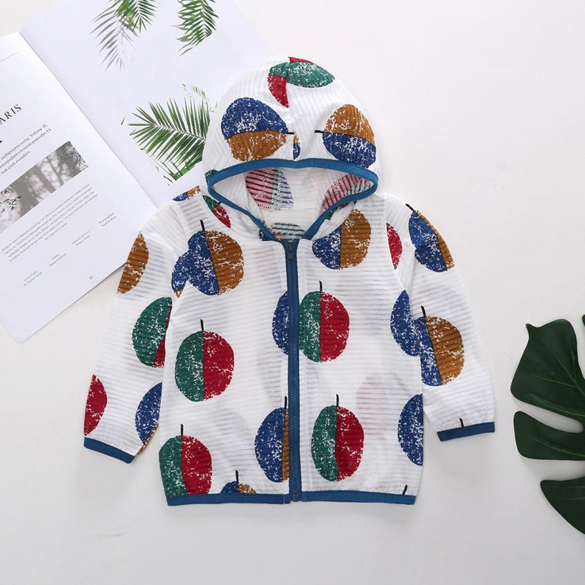 Fashion Cute Boys Girls Clothes Childrens Set Costume Coat Sunscreen Coat Beautiful Hooded Printing Coat Clothes Kids Clothing