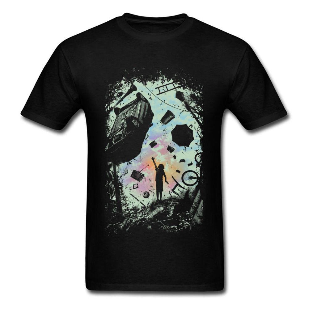 Gravity Play T-shirt Men Unique Tshirt Special Short Sleeve Vintage Design T Shirts Cotton Fabric O Neck Mens Tops Tees Black