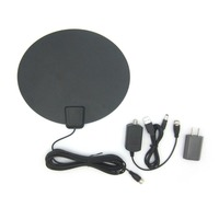 JD011 HD004 50 Miles Reception Range Digital Indoor Aerial HD Television Antenna with Amplifier Booster Easy Installation