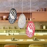 led indoor light fixtures Modern minimalist Hollow Resin Creative Hanging lampshade Nest Superman egg Dinosaur Egg Penant Light