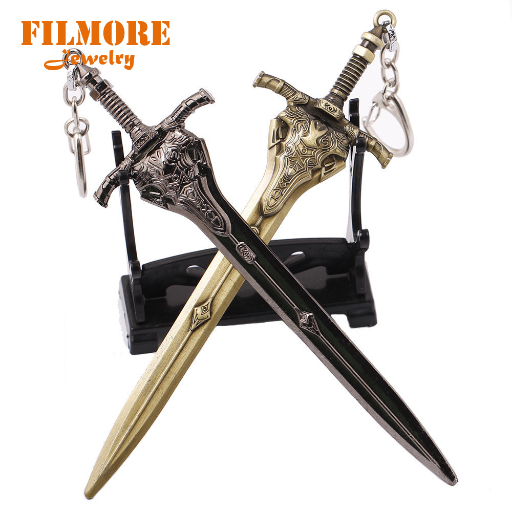 Filmore Anime 15cm Dark Souls 3 Weapon Key Chain Collection Keychain KeyRing Metal Artorias Sword Model Chaveiro Llavero Jewelry image