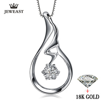 Naturalny Diament naszyjnik Wisiorki Czysta 18 K Złota Biżuteria Urok kobiety dziewczyna prezent Elegancki Mody Angel Wings gorąca sprzedaż nowa dobra grzywny