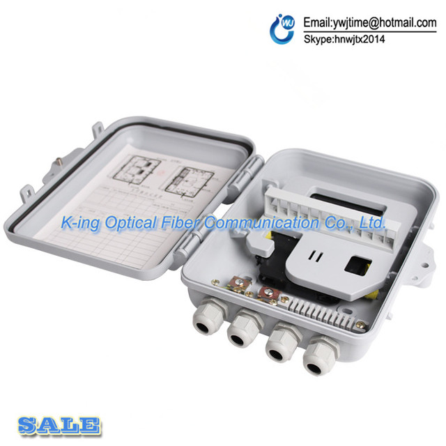 12 port FTTH Fiber Optic Termination Box 1X12 Core Outdoor Fiber Optic Distribution Box Fiber Optical Splitter Distribution Box