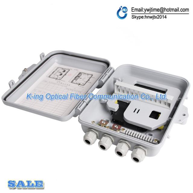12 puertos FTTH Caja de Terminales De Fibra Óptica 1X12 Núcleo de Fibra Óptica Al Aire Libre Caja de Distribución De Fibra Óptica Divisor caja