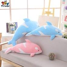 Plush Black Killer Whale Toy Stuffed Marine Animal Doll Pillow Baby Kids Children Birthday Christmas Gift Home Decor Triver