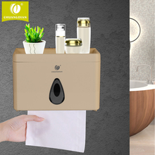 CHUANGDIAN Multi-function Bathroom Toilet Paper Holder Place Mobile Phone Toilet Paper Dispenser Tissue Box 3 colors