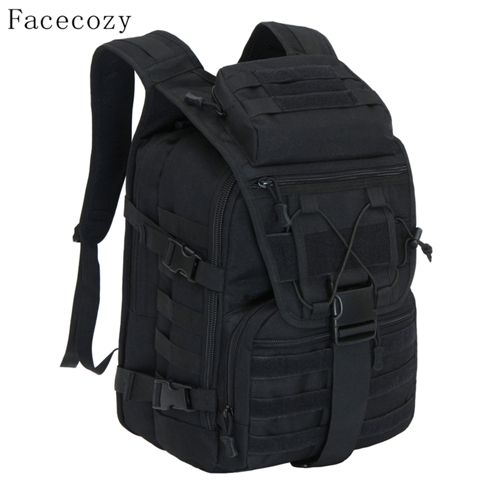 Facecozy Outdoor Camping Hiking Waterproof Military Backpack Men&Women Softback Travel Unisex Tactical Backpack Climbing Mochila outlife new style professional military tactical multifunction shovel outdoor camping survival folding spade tool equipment