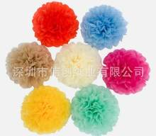 Party Favors 5 inches Pink Round DIY Tissue Paper Pompoms Flowers Balls Kids Birthday Party Baby Shower Decorations(China)