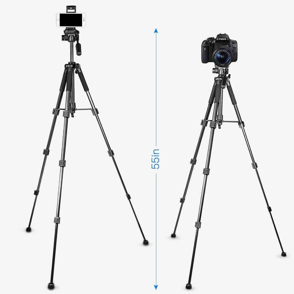 67 นิ้ว Professional ขาตั้งกล้องแบบพกพาขาตั้งอลูมิเนียม Travel Tripode สำหรับ Canon Nikon SONY DSLR โทรศัพท์มือถือกล้อง