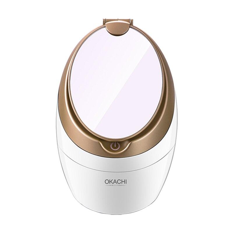 Vapeur pour le visage Salon de beauté Sauna personnel SPA Nano ionique visage brouillard pulvérisateur baril peau Pores nettoyant OKACHI GLIYA