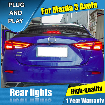 4PCS Car Styling for Mazda 3 Taillights 2014-2018 for  3 LED Tail Lamp+Turn Signal+Brake+Reverse LED light