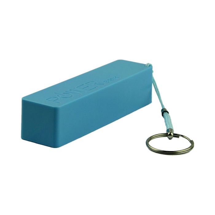 Blue Portable Mini 18650 Battery Charge Box Case 18650 External Backup Battery Charger With Key Chain f#UO