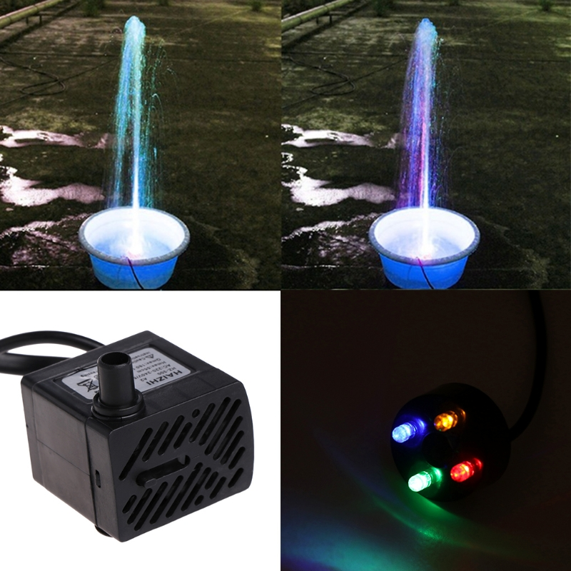 Aquarium 220 v 3 watt Tauch Wasserpumpe LED Aquarium Brunnen Fischteich Tank EU Stecker Aquario Wasser Pumpen fisch Pet Kit