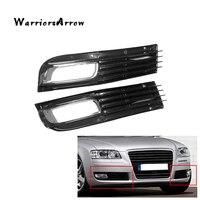WarriorsArrow çift ön tampon sis farı ızgarası kapağı krom Audi A8 QUATTRO A8 D3 2008 2009 2010 4E0807679B 4E0807680B