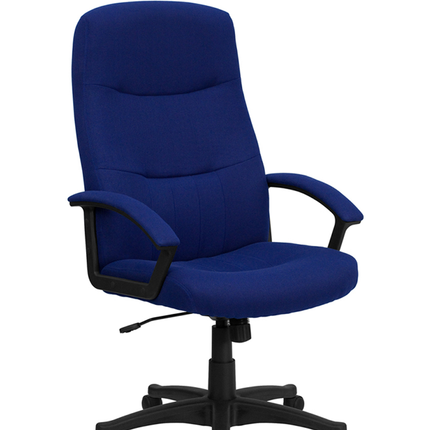 Flash Furniture High Back Navy Blue Fabric Executive Swivel Office Chair [863-BT-134A-NVY-GG]