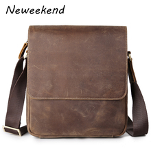 Genuine Leather Bag Men Bags Messenger Casual Boy's School Bags Leather Crossbody Bags Shoulder Handbags 3823