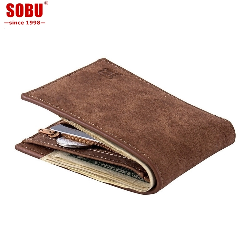 Hot Selling Classic Leather Coin Purses Bag Zipper New Design Dollar Price Top Slim Men Wallet R027 ...