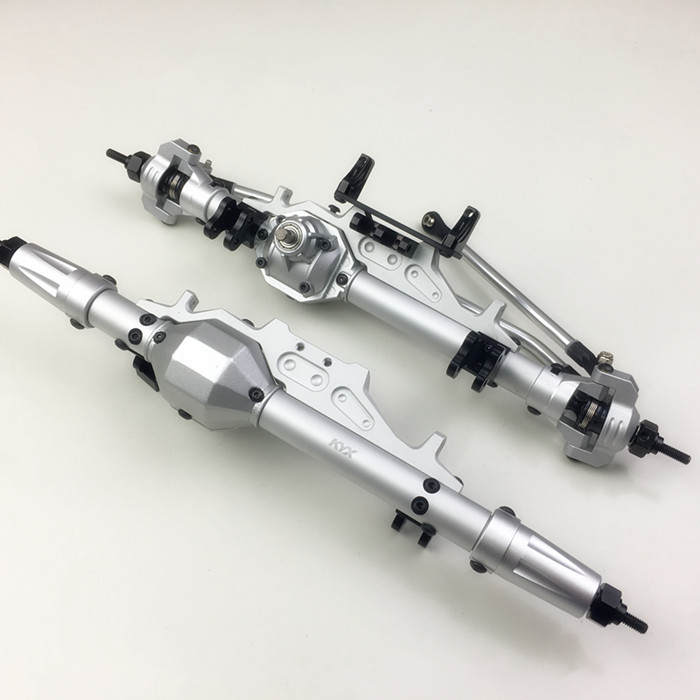 Alloy cnc upgrade front rear axle assembly bridge 30T 8T for Axial wraith 1 10 crawler