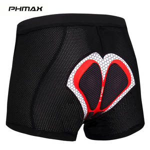 PHMAX Pro Cycling Underwear MTB Road Bicycle Cycling Shorts Mountain Bike Cycling Tights With Comfortable Silica 5D Gel Padded