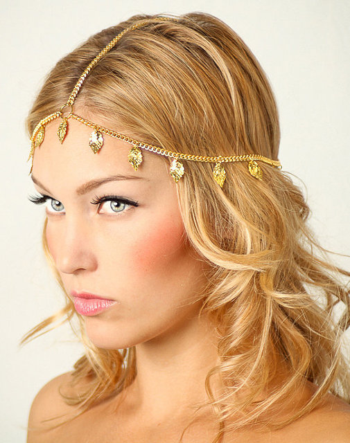 Hot Selling Party Wedding Jewelry Tiara Circle Roll Drop Head Chain