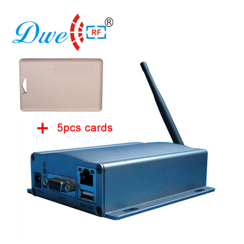 DWE CC RF customized active long range 2.4ghz rfid antenna reader with RS232 RS485 wiegand interface