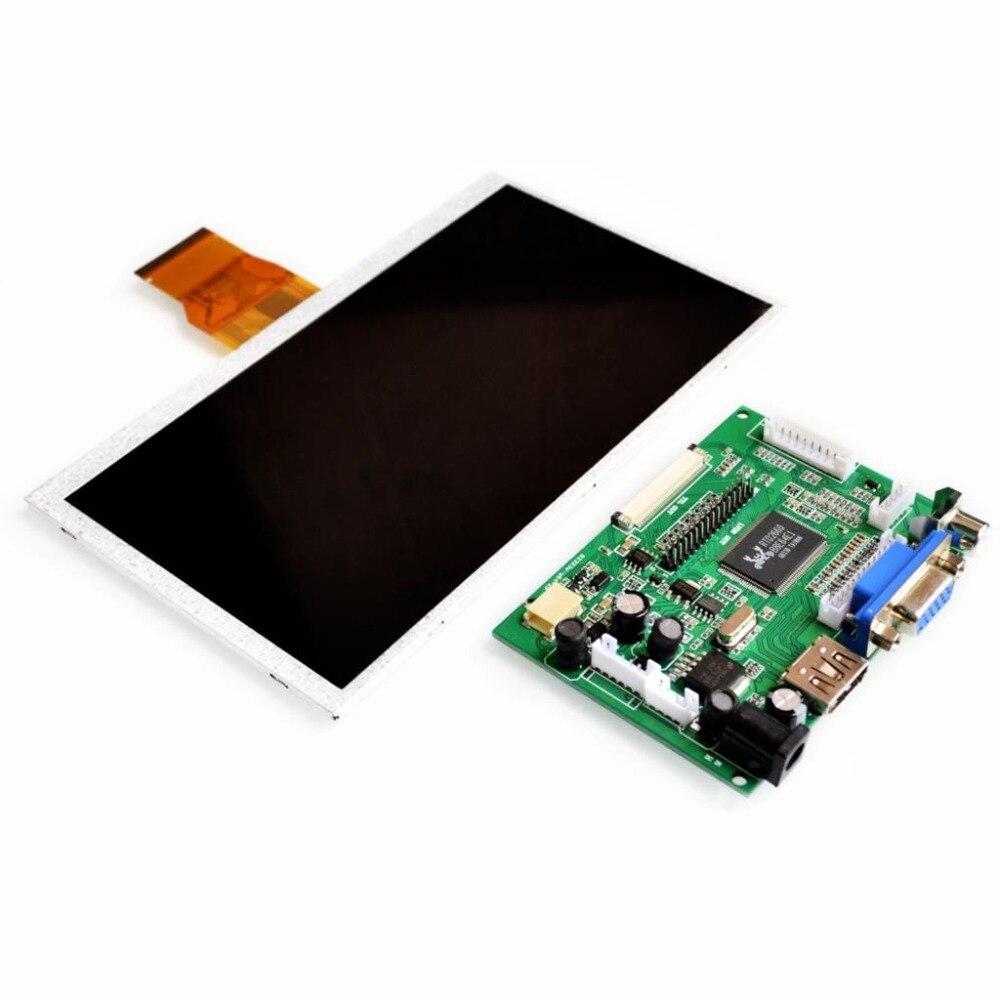 7 pulgadas Raspberry Pi 3 TN LCD con HDMI VGA AV Módulo de pantalla para Pcduino Banana Pi 800x480