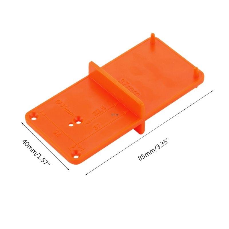 Купить с кэшбэком 35mm 40mm Hinge Hole Drilling Guide Locator Hole Opener template Door Cabinets DIY Tool For Woodworking tool Drop ship