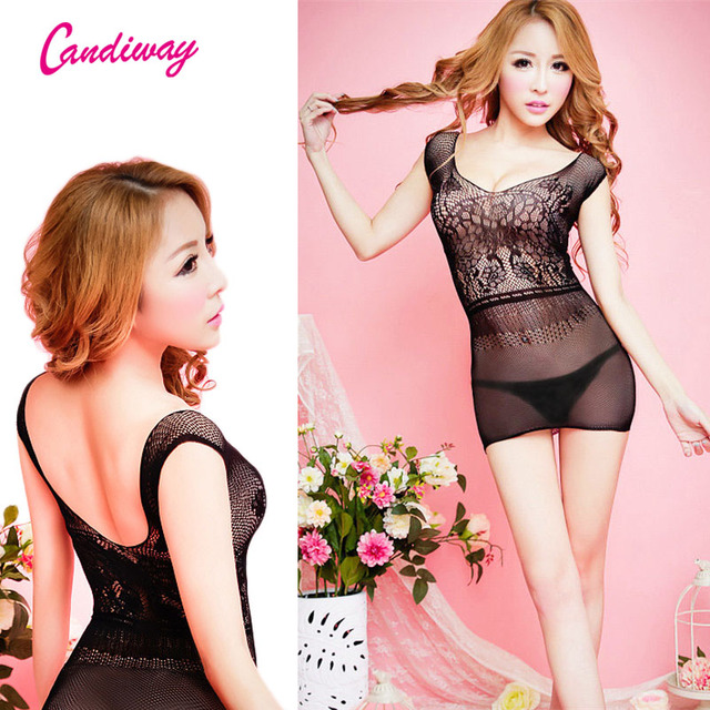 ef4797ae55d Sexy lingerie Unwrap Me Lace Babydoll Dress Mini Short Dress Exotic Apparel  Sexy Underwired Plunge Chemise Set GA155