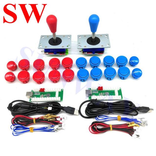 2 игрока DIY аркадные наборы с USB кодировщиком PC Zippy джойстик с овальным шаром + кнопки + провода жгута для Android/ Raspberry Pi