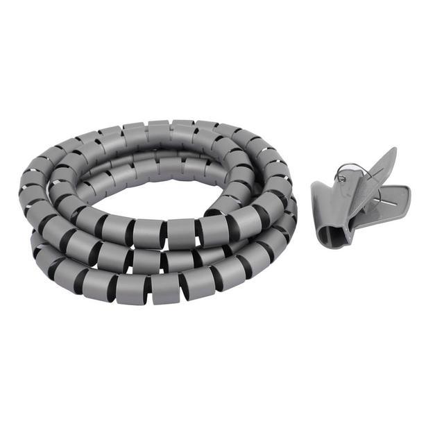 2M Length 25mm Diameter Spiral Wire Organizer Wrap Tube Flexible ...