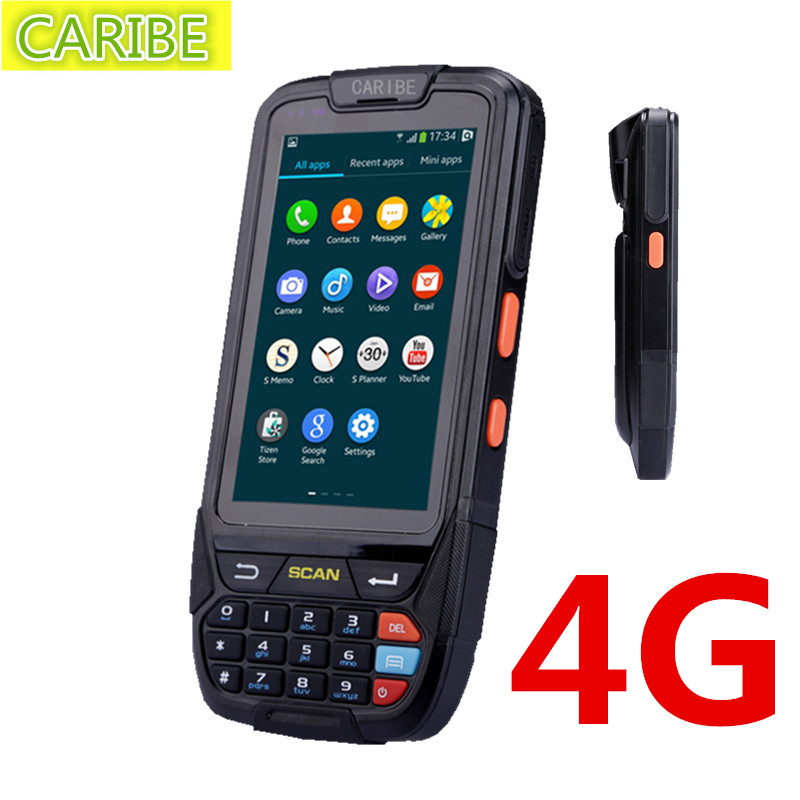 CARIBE PL-40L 1d barcode reader 2+16GB  industrial pda handheld computer and 125K RFID reader caribe pl 40l industrial handheld android pda wifi mobile 1d barcode scanner and hf rfid tags reader