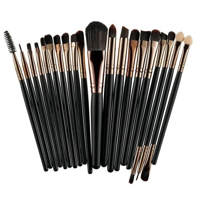 ROSALIND 20 sztuk profesjonalne pędzle do makijażu zestaw Powder Foundation Eyeshadow kosmetyki do makijażu pędzle kosmetyczne miękkie włosy syntetyczne
