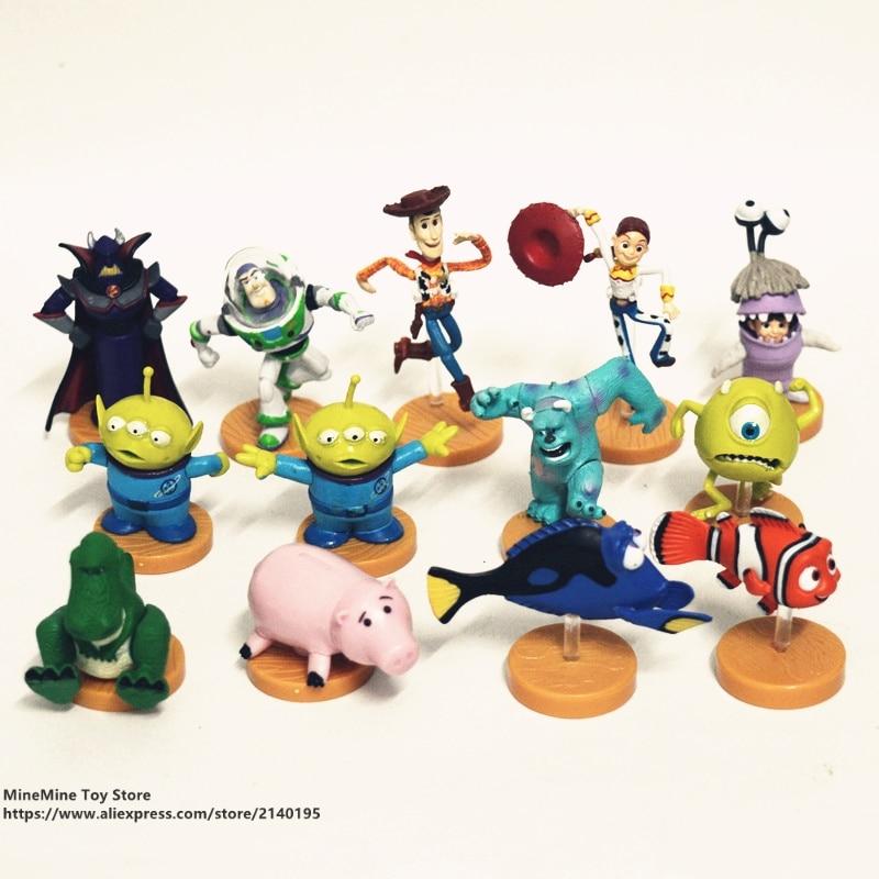 ZXZ Toy Story Woody Monsters University 13pcs/set 5 7cm