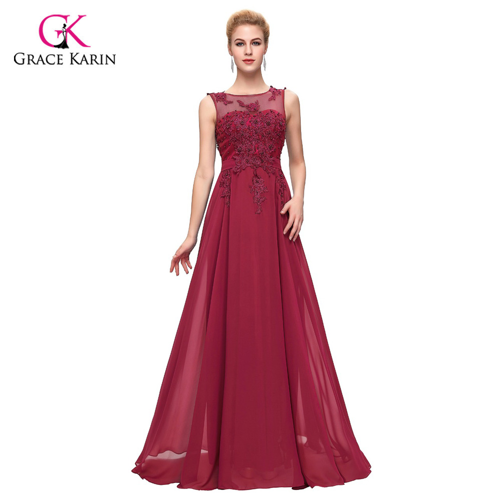 ᐂRobe De Soiree Long Evening Dresses 2018 Grace Karin Chiffon Women ...
