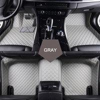 Custom Special Car Floor Mats For Hyundai Ix25 Ix35 Elantra SantaFe Sonata Solaris Veloster Waterproof Leather