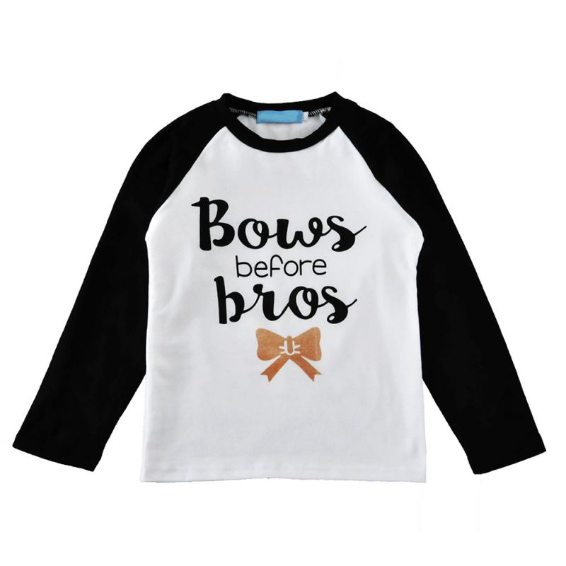Letter Print Girls Long Sleeve Tops T Shirts Girls Boys T-shirts Bobo Choses Children's Clothing Minions Girl T Shirt A