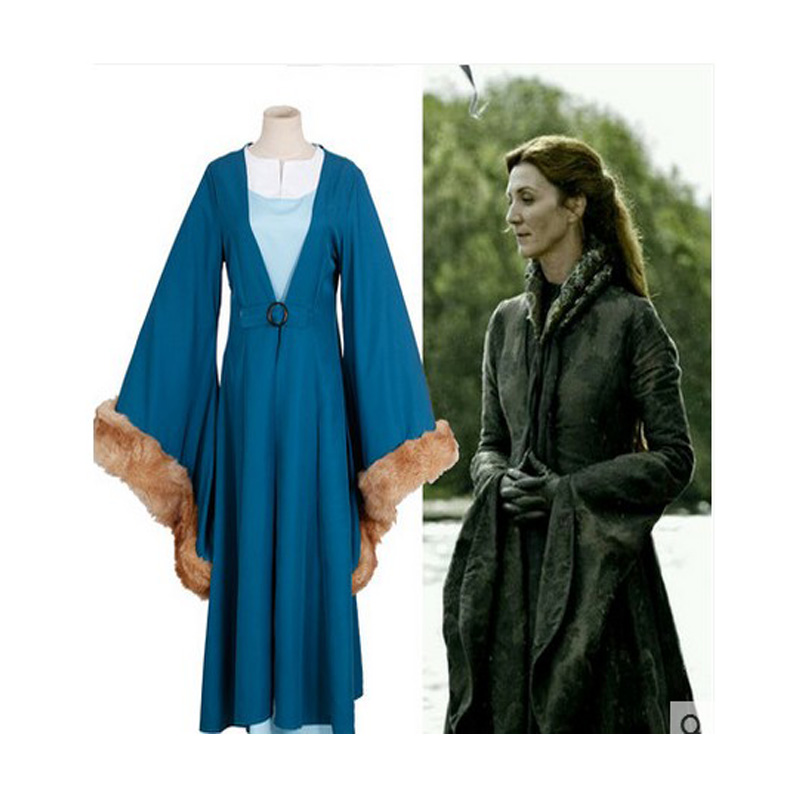 HOT Movie Catelyn Stark COS Game of Thrones Cosplay Costume Uniform Custom Made Free Shipping