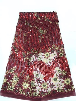 African Laces Fabrics Embroidered Nigerian Guipure French Cord Lace Fabric High Quality Rose African French Net Lace Fabric D139