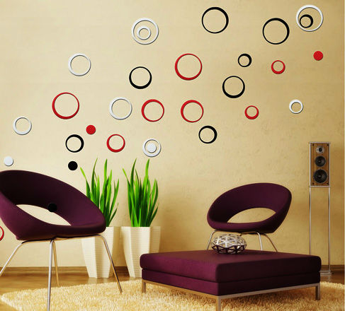 Wooden Art Wall Sticker Decoration Home Decoration 3d Sticker Wall Wall  Decors For Antique Homes For Home Wall Decor
